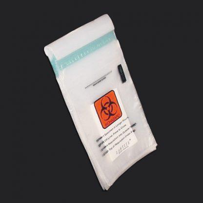 specimen transport bag with absorbent pad