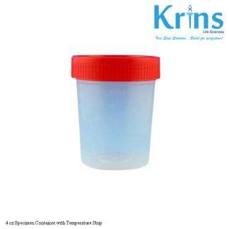 4 oz Specimen Container with Temperature Strip