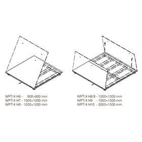 WPT/4 H/Z Stainless Steel Platform Scales, pit version