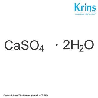 calcium sulphate dihydrate extrapure ar, acs, 99%