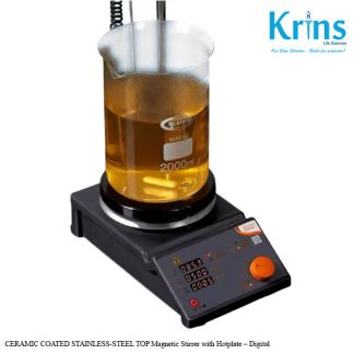 ceramic coated stainless steel top magnetic stirrer with hotplate digital