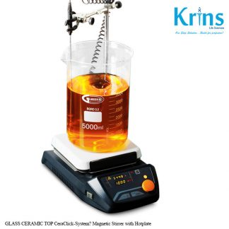 glass ceramic top ceraclick system magnetic stirrer with hotplate