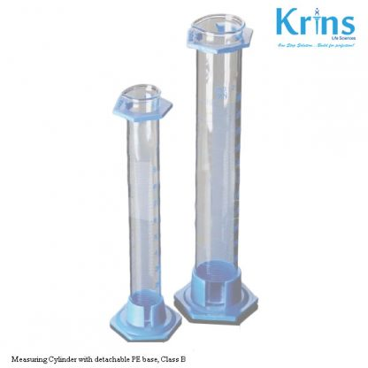 measuring cylinder with detachable pe base, class b