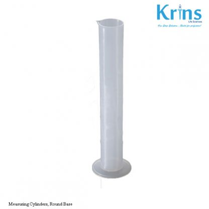 measuring cylinders, round base