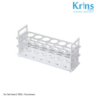 test tube stand (3 tier) – polycarbonate