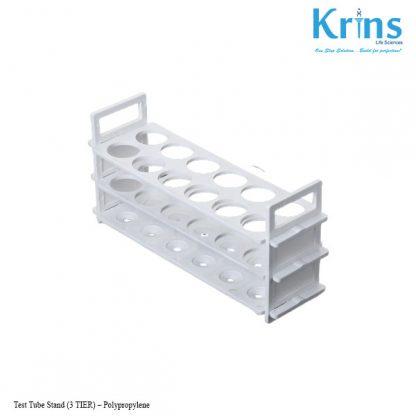 test tube stand (3 tier)–polypropylene